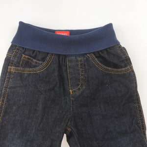Boys Esprit, cotton lined denim jeans, elasticated waist, EUC, size 6 months
