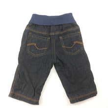 Load image into Gallery viewer, Boys Esprit, cotton lined denim jeans, elasticated waist, EUC, size 6 months