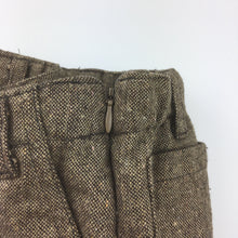 Load image into Gallery viewer, Girls Oobi, brown tweed pants, adjustable waist, side zip, GUC, size 1