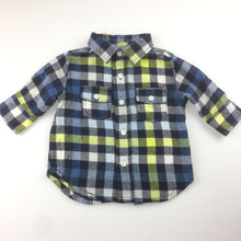 Load image into Gallery viewer, Boys Gymboree, brushed cotton check long sleeve shirt, EUC, size 000