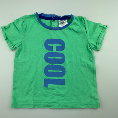 Boys Baby Berry, green cotton t-shirt / tee, cool, GUC, size 1