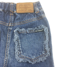 Load image into Gallery viewer, Girls Mini Minors, blue denim skirt, elasticated waist, GUC, size 5