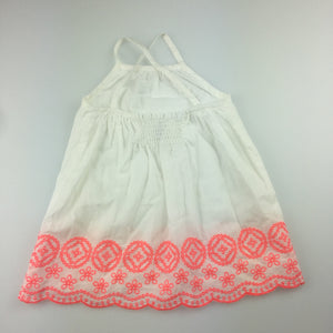 Girls Target, lined cotton summer / party dress, embroidered, GUC, size 0