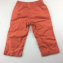 Load image into Gallery viewer, Boys Carter's, orange cotton pants, elasticated waist, FUC, size 0-1