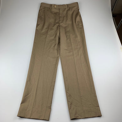 Girls Lauren Ralph Lauren, tan lightweight dress pants, w: 68cm, Inside leg: 71cm, never worn, NEW, size 14