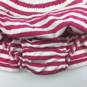 Girls Baby Gap, pink & white stripe skirt, built-in napy cover, EUC, size 00