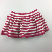 Load image into Gallery viewer, Girls Baby Gap, pink & white stripe skirt, built-in napy cover, EUC, size 00