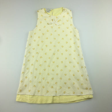 Girls Astro, lined cotton party dress, chicks, size 18 months, GUC, size 1-2