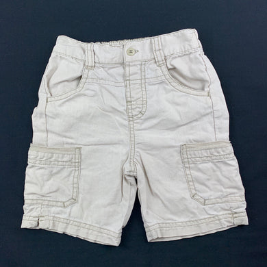 Boys Bambini, linen / cotton cargo shorts, elasticated, GUC, size 1