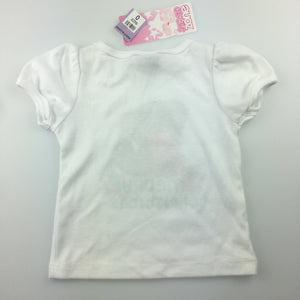Girls Snooze Zone, white pyjama top / t-shirt, Merry Christmas, NEW, size 0
