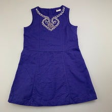 Load image into Gallery viewer, Girls Jack & Milly, beaded cotton party dress, GUC, size 3
