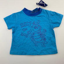Load image into Gallery viewer, Boys Wave Zone, blue cotton t-shirt / tee / top, NEW, size 00
