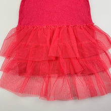 Load image into Gallery viewer, Girls Cotton On, pink cotton dress, tulle skirt, FUC, size 1