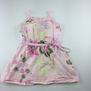 Girls Fred Bare, lightweight cotton summer / party dress, floral, GUC, size 1