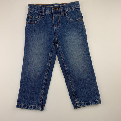 Boys Blue Zoo, blue denim jeans, adjustable, EUC, size 2