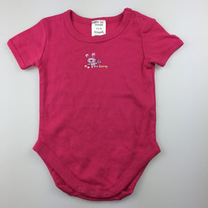Girls Dymples, pink cotton short sleeve bodysuit, rabbit, GUC, size 00