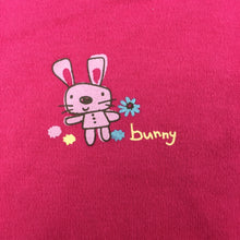 Load image into Gallery viewer, Girls Dymples, pink cotton short sleeve bodysuit, rabbit, GUC, size 00
