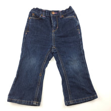 Load image into Gallery viewer, Girls Cherokee, dark denim jeans, elasticated waist, FUC, size 18 months