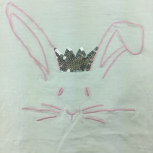 Load image into Gallery viewer, Girls Target, white cotton t-shirt / top, rabbit sequin, FUC, size 0