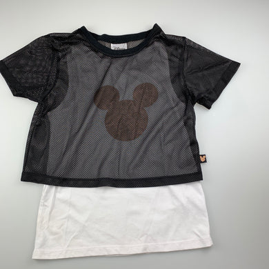 Girls Disney, dual layer Mickey Mouse t-shirt / top, GUC, size 10