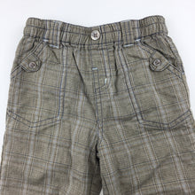 Load image into Gallery viewer, Boys Next, cotton lined check pants, elasticated waist, GUC, size 6-9 months