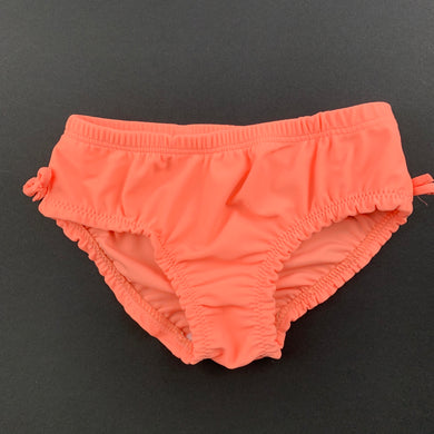 Girls Babies R Us, orange swim shorts / bottoms, EUC, size 00