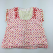 Load image into Gallery viewer, Girls Jack & Milly, lined cotton floral print top / blouse, GUC, size 0