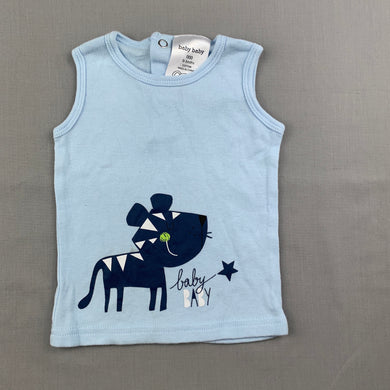 Boys Baby Baby, blue soft cotton tank top / t-shirt, GUC, size 000