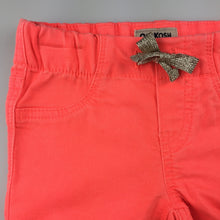 Load image into Gallery viewer, Girls Osh Kosh, orange stretch jeggings / jean leggings, elasticated, NEW, size 2