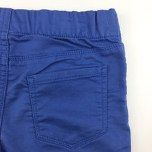 Load image into Gallery viewer, Girls Osh Kosh, blue stretch jeggings / jean leggings, elasticated, NEW, size 6