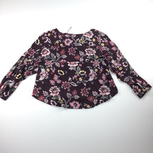 Load image into Gallery viewer, Girls Witchery, long sleeve frill back blouse / top, floral print, NEW, size 5