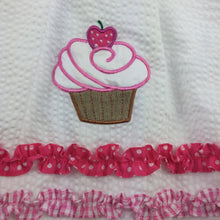 Load image into Gallery viewer, Girls De La Fontaine, white & pink party dress, cupcakes, EUC, size 6