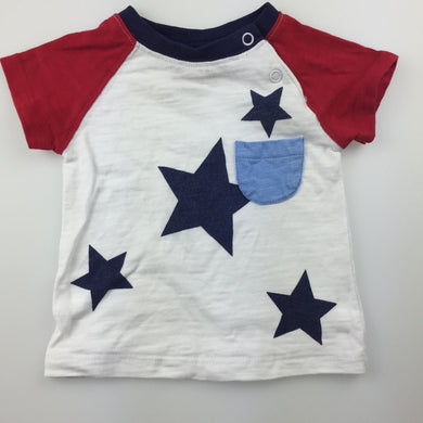 Boys Sprout, cotton t-shirt / tee, stars, GUC, size 000