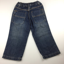 Load image into Gallery viewer, Boys Supa Dupa, blue denim jeans, elasticated waist, GUC, size 3