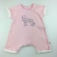 Load image into Gallery viewer, Girls Fox & Finch, wrap-over one-piece, popper fastening, puppy, EUC, size 000