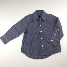 Load image into Gallery viewer, Boys Industrie, blue & white striped long sleeve cotton shirt, EUC, size 2