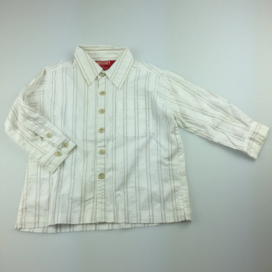 Boys Woof by minihaha, long sleeve cotton shirt, FUC, size 18 months