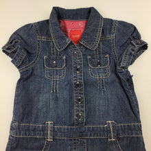 Load image into Gallery viewer, Girls Esprit, short sleeved denim dress, GUC, size 18 months