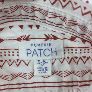 Boys Pumpkin Patch, long sleeve cotton shirt, EUC, size 00