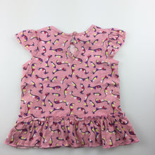 Load image into Gallery viewer, Girls baby berry, short sleeved cotton dress, GUC, size 000