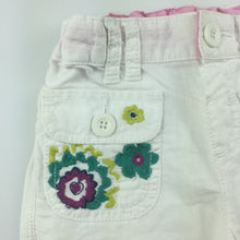 Load image into Gallery viewer, Girls M&S Autograph, linen / cotton blend pants with adjustable waist, GUC, size 2