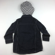 Load image into Gallery viewer, Boys Pumpkin Patch, long-sleeve shirt, detachable hood, roll tab sleeve, GUC, size 2
