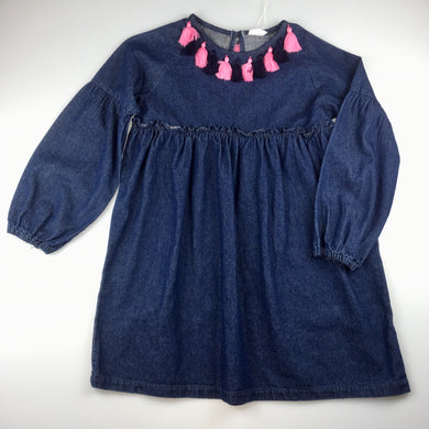 Girls Seed, denim smock dress.<p>In a comfy off the body shape, this dress features tassel details around the neck.<p>Pair this dress with tights and boots for a cute winter outfit.<p>Made from 100% cotton denim, NEW, size 10