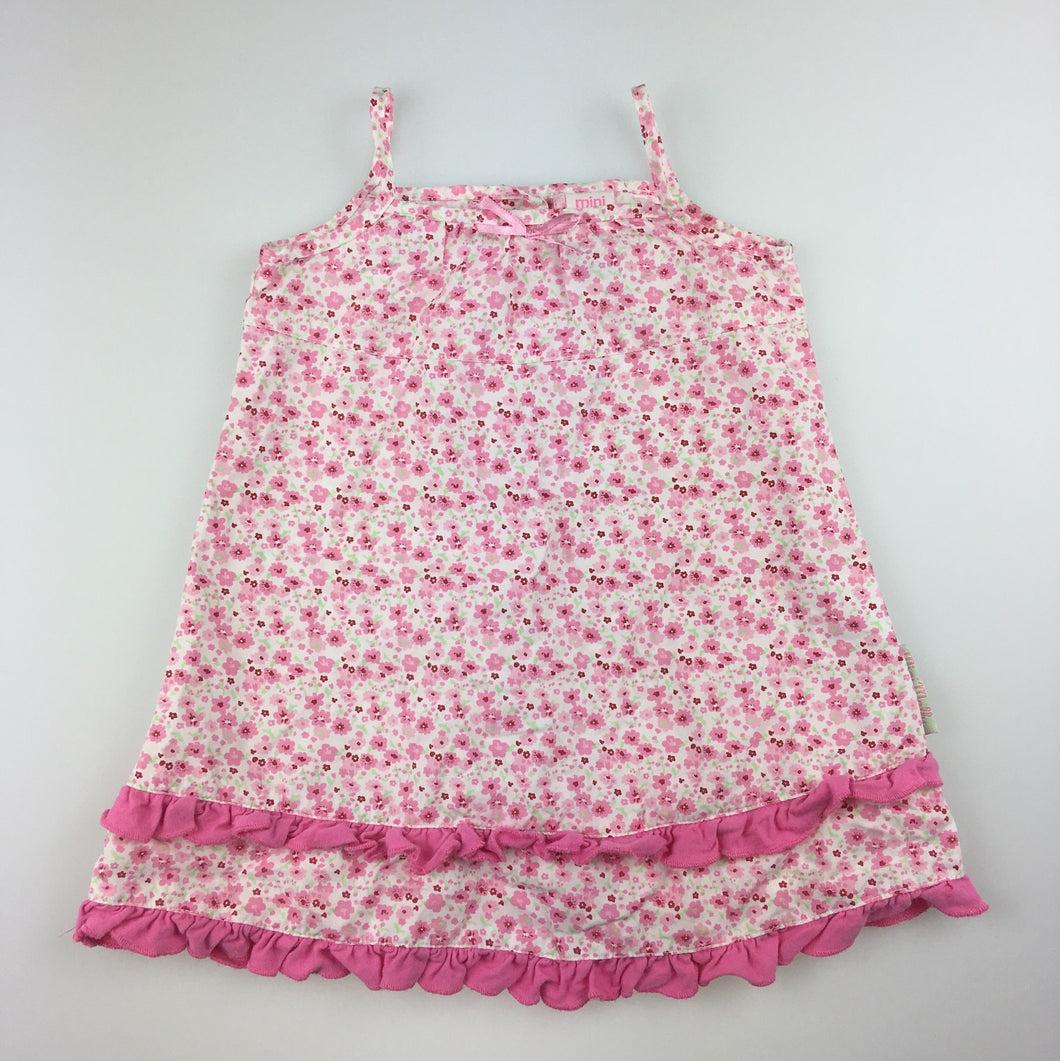 Girls Mini Molly, cotton floral summer party dress, EUC, size 0