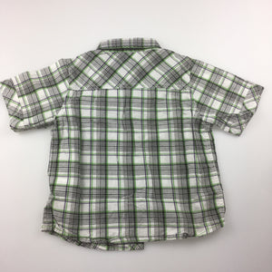 Boys Mother Care, 100% cotton check short sleeve shirt, GUC, size 2