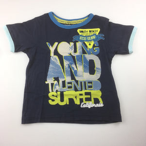 Boys M&S, t-shirt / tee, young & talented surfer, GUC, size 3