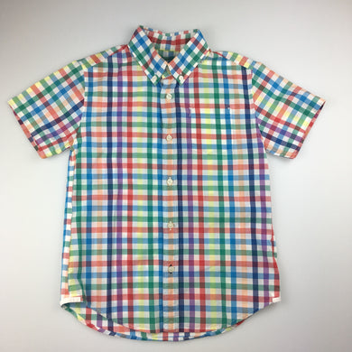 Boys Crewcuts, cotton short sleeve check lightweight shirt, EUC, size 6-7