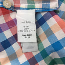 Load image into Gallery viewer, Boys Crewcuts, cotton short sleeve check lightweight shirt, EUC, size 6-7