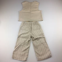 Load image into Gallery viewer, Boys Sprout, linen/cotton vest and pants set, formal, wedding, GUC, size 1