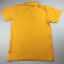 Load image into Gallery viewer, Unisex Emerson, short sleeve school polo shirt / top, yellow, GUC, size 14
